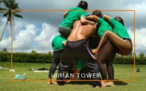 human tower team building bali